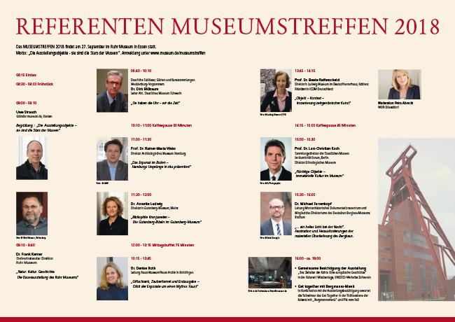 Tagungsprogramm MUSEUMSTREFFEN 2018