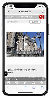 Die Museumsgäste nutzen ihr eigenes Smartphone als Audioguide