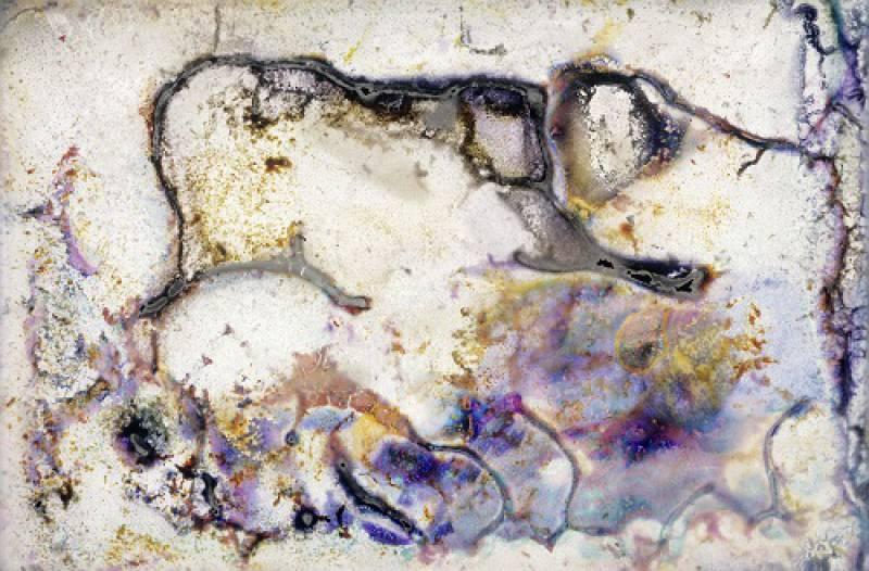 Maler Witten bewegung im bild. die informelle malerei trifft auf die geste in der